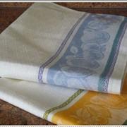 Жаккардовые полульняные кухонные полотенца фото