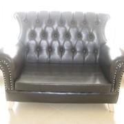 Мебель для кафе и ресторанов, Кожаный диван фото
