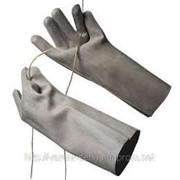 Диэлектрические перчатки (шовные) фото