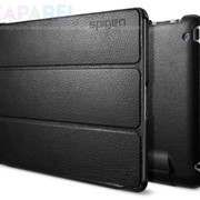 Чехлы SGP Leather Case Leinwand Series Black for iPad 4/iPad 3 фото