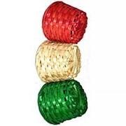 Кашпо плетёное цветное 6x8см фото