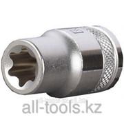 Торцовая головка Kraftool Industrie Qualitat , Cr-V, внешний Torx , хромосатинированная, 1/2, Е 20 Код:27810-20_z01 фото
