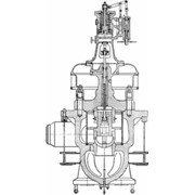 Узлы и детали парораспределения и регулирования турбин: Клапаны: - стопорные, - регулирующие фото