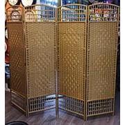 Ширма плетеная раздвижная открытая (древесный) фото
