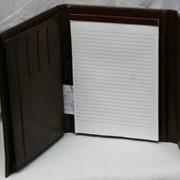 Папка раскладная с блокнотом,кожзам,186-02. фото