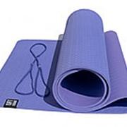 Коврик для йоги 6 мм двуслойный TPE фиолетово-сиреневый FT-YGM6-2TPE-1 фото