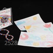 Детские цветные карандаши мел мелки бусы ожерелье украшение для рисования фото