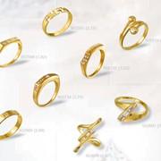 Кольца, печатки. золото Au 585° пробы со вставками из драгоценных, полудрагоценных и синтетических камней фото