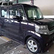 Микровэн HONDA N BOX кузов JF1 класса минивэн модификация Custom G L Package гв 2012 пробег 141 т.км пурпурный фото
