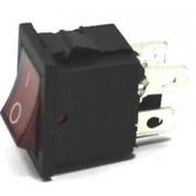 Выключатель SC-768 с подсветкой (4с) (2on-off) красный MIRS-201-2 (KCD1-201N-4) фото