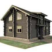 Дом из сухостойной сосны фото