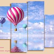 """Модульная картина для стен """"Воздушные шары"""" фото"""