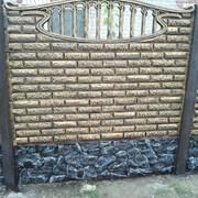"""Бетонный забор из плит """"Фагот"""" с установкой фото"""