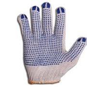 Перчатки рабочие с ПВХ-покрытием,точка фото