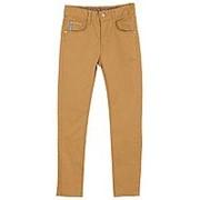 Стильные брюки горчичного цвета с прямой штаниной 26 фото