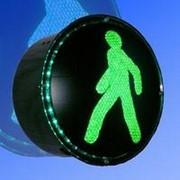Noname Вкладыш зеленого свечения 200 мм пешеходный питание 220В дорожного светофора арт. СцП23448 фото