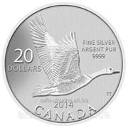 Монета $20 Canada - Канада - 2014 год - серебро - пруф - оригинал фото