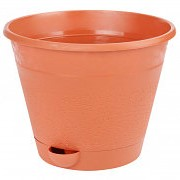 Горшок для цветов Мадера 2,5л, с поддоном коричневый, М7429 фото