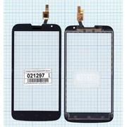 Сенсорное стекло (тачскрин) для Huawei Ascend G730 черное, Диагональ 5.5 фото