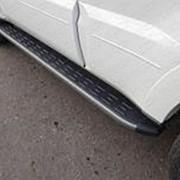 Пороги Mitsubishi Pajero 2006-наст.время (алюм. с пласт. накладкой 1820 мм) фото