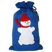 Мешок для подарков из флиса с аппликацией Снеговик фото