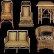 Наборы мебели из лозы фото