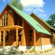 Строительство дома из сип-панелей и клееного бруса фото