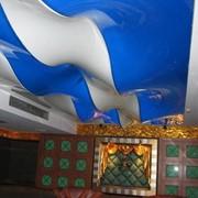 Натяжной потолок сложной конструкции фото