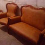 Перетяжка мебели кожей и тканью. фото
