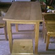 Столы деревянные кухонные,письменные,парты детские фото
