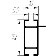 Алюминиевый профиль прямоугольного сечения фото