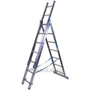 Лестница алюминиевая трёхсекционая 6,26 м. 3 х 10 - Scara cu trei tronsoane - 6,26 m 3x10 код.товара 7610 фото