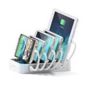 Зарядная станция Satechi 5-Port USB с Qualcomm® (B0170L326A) Белый фото