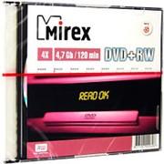 Оптический диск DVD плюс RW 4.7 Гб Mirex 4-ск. слим, многократный, целлофанирован по 1шт. фото