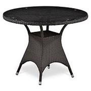 Плетеный стол T220CBT-W52-D96 Brown фото