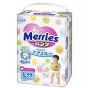 Подгузники-трусики MERRIES L (9-14кг) 44 шт фото