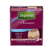 Труси-Подгузники Depend для взрослых женщин L XL 9 шт фото