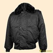 Куртка зимняя П-1 ткань черная фото