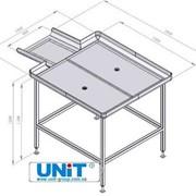 Стол нутровочный со склизом UNIT фото