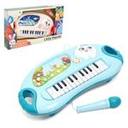 Музыкальное пианино «Малыш пианист», цвет голубой фото