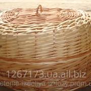 Плетеная хлебница из крышкой фото