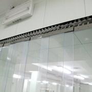 Полосовая ПВХ завеса морозостойкая фото