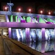 Архитектурная подсветка набережных, гидроелектростанций фото