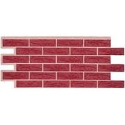 Фасадные панели T-Сайдинг, коллекция «Лондон Брик» бордовый, 1090х455 фото