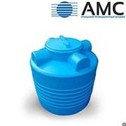 Бак пластиковый 200 литров вертикальный цилиндрический с крышкой фото