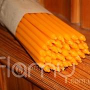 Свеча церковная желтая, длинная, упаковка 50 штук фото