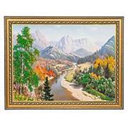 "Картина ""Осень в горах"" багет 34х44 см ПИ16 фото"