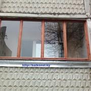 Балконные рамы из дерева. фото
