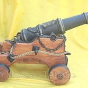 Пушка старинная, корабельная, сувенирный вариант. Сувенирное оружие на заказ фото