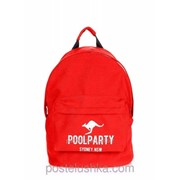 Рюкзак Poolparty backpack-kangaroo Красный фото